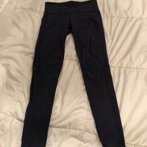 Athleta navy leggings, size S